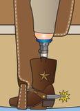 Amputowany kowboj Zdjęcia Stock