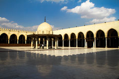 Amr Ebn El-ass mosque. Photograph of Amr Ebn El-ass mosque, Cairo, Egypt stock photos
