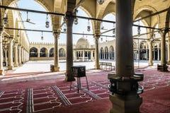 AMR Ibn AlAasa清真寺的内部在开罗 免版税库存图片