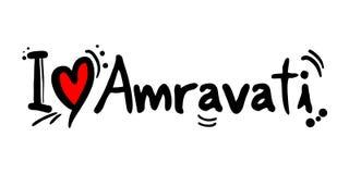 Amravati love message Royalty Free Stock Photos