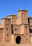 Amridil Kasbah, Dades Valley, Morocco. Morocco, Ouarzazate, Skoura, Amridil Kasbah - detail of a tower with Berber geometrical symbols. UNESCO World Heritage royalty free stock image