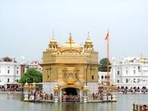 amritsar χρυσός ναός ηλιοβασιλέματος της Ινδίας Στοκ Φωτογραφίες
