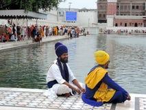 amritsar χρυσός ναός ηλιοβασιλέματος της Ινδίας Στοκ φωτογραφίες με δικαίωμα ελεύθερης χρήσης