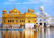 amritsar χρυσός ναός ηλιοβασιλέματος της Ινδίας Στοκ φωτογραφία με δικαίωμα ελεύθερης χρήσης