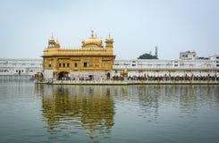 amritsar byggnad räknade för den india för hel guld det guld- tempelet leafen Royaltyfria Foton