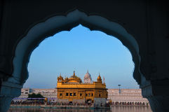 Amritsar Golden Temple - India. Framed with windows Stock Images