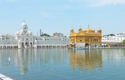 Amritsar goldent temple complex punjab india Stock Image