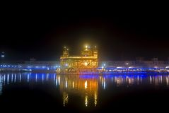 amritsar guld- india punjab tempel Fotografering för Bildbyråer
