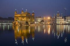 amritsar guld- india tempel royaltyfri bild
