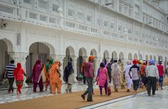People visit the Golden Temple in Amritsar, India Stock Photo