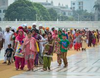 People visit the Golden Temple in Amritsar, India Royalty Free Stock Photography