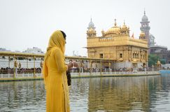 People visit the Golden Temple in Amritsar, India Stock Photography