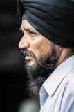 Amritsar, la India, el 5 de septiembre de 2010: Retrato del hombre indio, con Foto de archivo libre de regalías