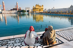 amritsar złota ind Punjab świątynia obrazy royalty free