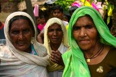 Amroha, Utar Pradesh, India - 2011: Unidentified Indian people. From slums Stock Images