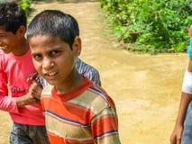 Amroha, Uttar Pradesh, INDIA - 2011: Indian children of slams smilimg Stock Photography