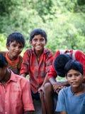 Amroha, Uttar Pradesh, INDIA - 2011: Indian children of slams smilimg Stock Images