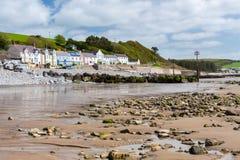 Amroth海滩Pembrokeshire威尔士 库存图片