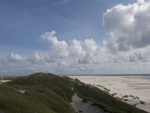 Amrum cloudy royalty free stock image