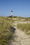 Amrum (Germany) - Lighthouse in the sand dunes Stock Photos