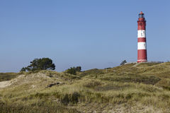 Amrum (Germany) - Lighthouse in the sand dunes Royalty Free Stock Photo
