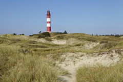 Amrum (Germany) - Lighthouse in the sand dunes Royalty Free Stock Photos