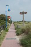 Amrum walkway Stock Images