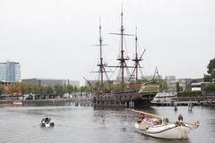Amstel船 库存照片