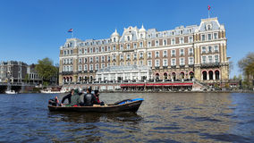 Amstel hotel. In Amsterdam Stock Image