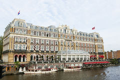 Amstel Hotel in the center of Amsterdam Royalty Free Stock Image