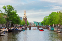 Amstel river, Amstardam, Holland Royalty Free Stock Images
