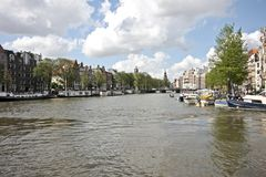 Amstel river in Amsterdam Netherlands Stock Image