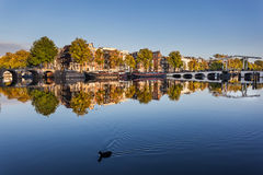 Amstel river, Amsterdam Royalty Free Stock Photos