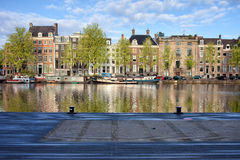 Amstel River in the City of Amsterdam Royalty Free Stock Images
