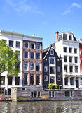 Amstel river with houses Royalty Free Stock Photo