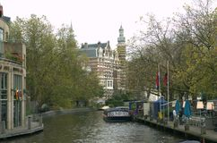Amsterdam river Royalty Free Stock Image