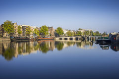 Amstel River reflections Royalty Free Stock Images