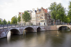 The canals and bridges of Amsterdam Royalty Free Stock Photography