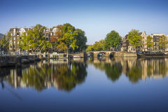 Amstel River reflections Stock Images