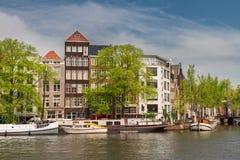 Amstel riverbank,  Amsterdam Stock Photography