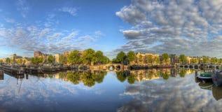 Amstel sunrise panorama Royalty Free Stock Image