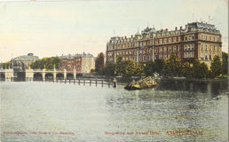 Amstelhotel in Amsterdam in 1907 Stock Photos