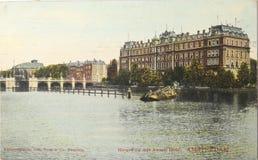 Amstelhotel in Amsterdam in 1907 Stock Foto's