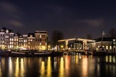 Amstelrivier in Amsterdam royalty-vrije stock foto