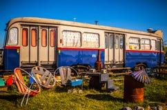 AMSTERDÃO - 15 DE AGOSTO: Submarino velho em NDSM-werf - a comunidade cidade-patrocinada da arte chamou Kinetisch Noord Imagens de Stock
