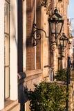 Amsterdão e suas casas maravilhosas do brownstone fotos de stock