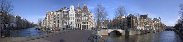 Amsterdão Keizersgracht-Leidsegracht em Holland Imagem de Stock