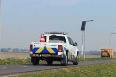 Amsterdão, os Países Baixos: 22 de abril de 2019: Autoridade aeroportuaria imagens de stock