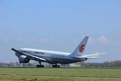 Amsterdão os Países Baixos - 2 de abril de 2017: B-2096 Air China Cargo Imagem de Stock Royalty Free