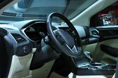 Amsterdão, os Países Baixos - 23 de abril de 2015: Interior de Ford Edge Imagem de Stock Royalty Free